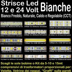 STRISCE LED BIANCHE 12V -...