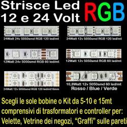 STRISCE LED RGB 12V - 24V...